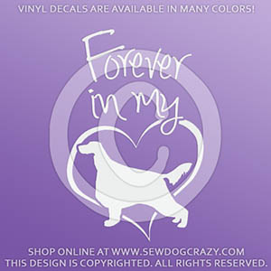 Forever In My Heart Irish Setter Vinyl Stickers
