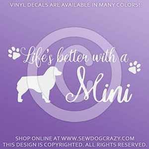 Miniature American Shepherd Vinyl Stickers