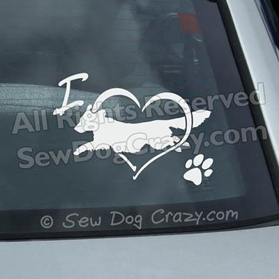 Love Toller Dog Sports Car Window Sticker