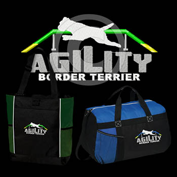 Embroidered Border Terrier Agility Bags