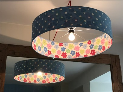 Large double sided Cath Kidston lampshades