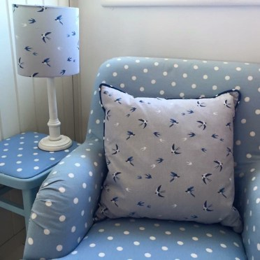 Sophie Allport cushion and lampshade