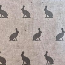 58 - Linen with grey hares