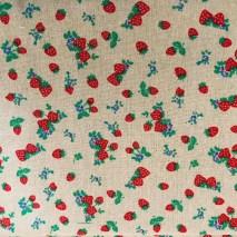 22 linen strawberry