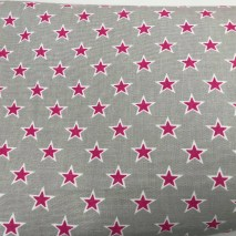 8 grey with pink stars