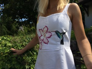 painted dress kolibri
