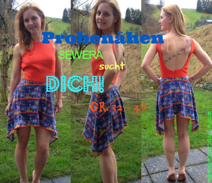 Probenähaufruf Backless Kleid