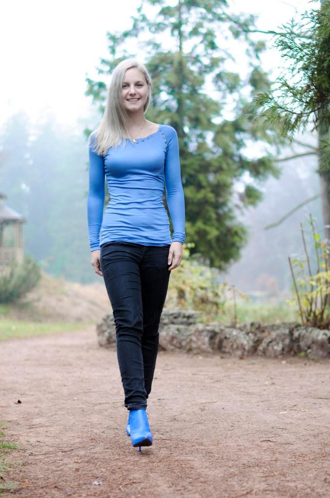walking along a forestpath
