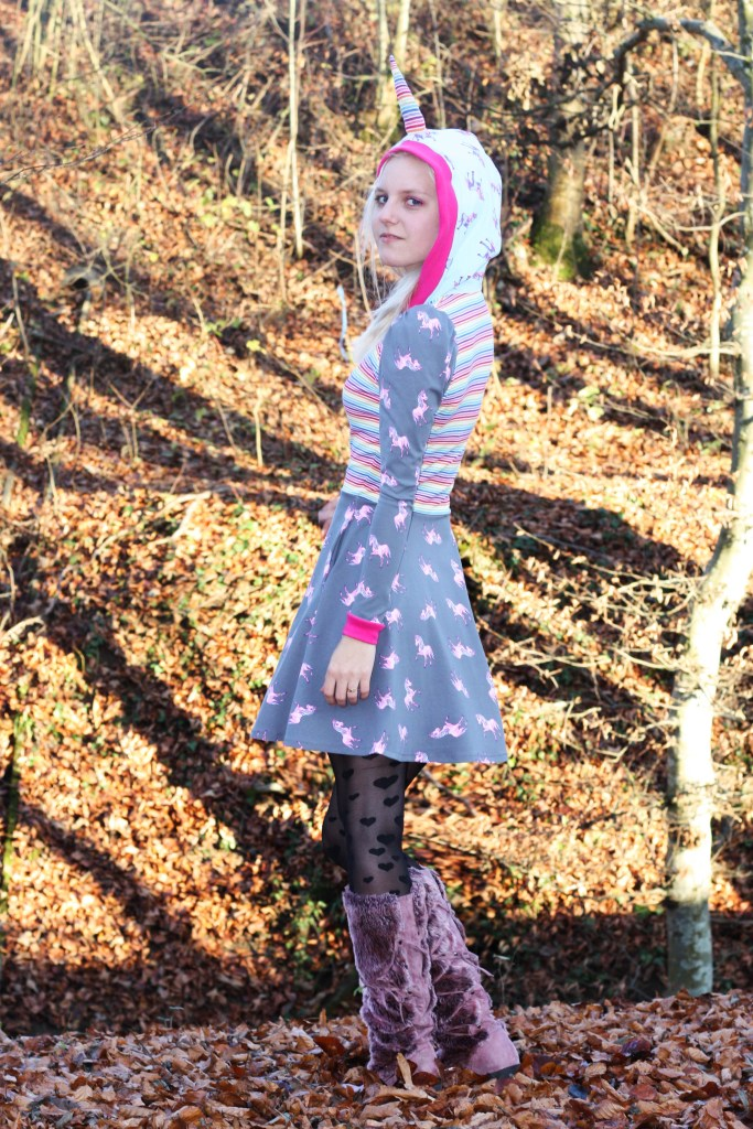 innocent unicorn in the forrest