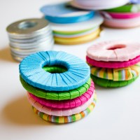 DIY Pattern Weights - Ribbon Wrapped Washers
