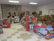 Gift donations packed for distribution