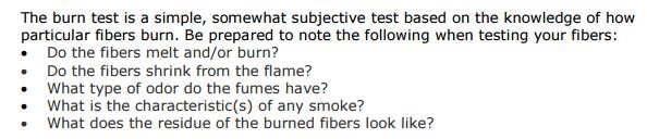 Burn Test Explanation