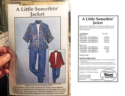 Little Somethin' Jacket cover & back