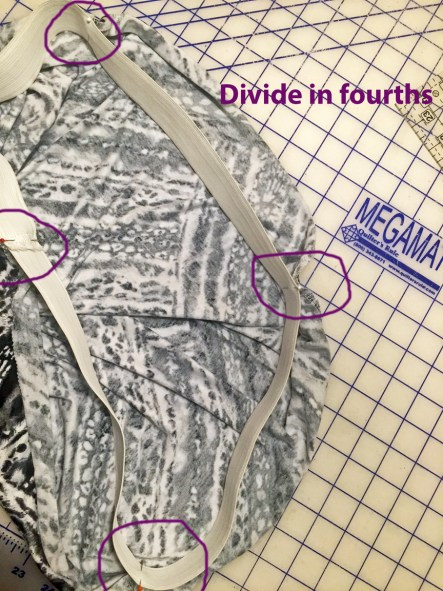 Divide in fourths