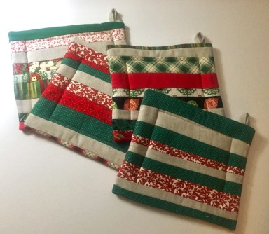 Four potholders