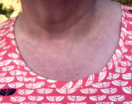 Lark Tee Scoop Neck close up