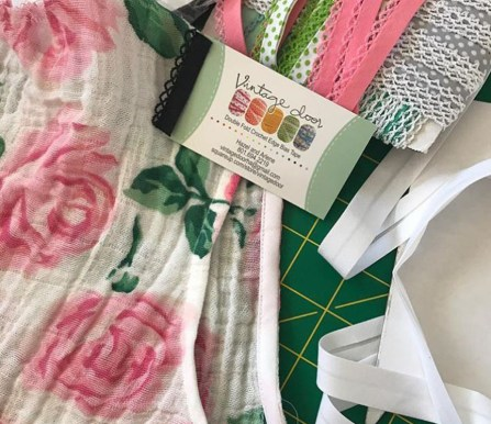 Ellen's Rose Garden plans with bias tape