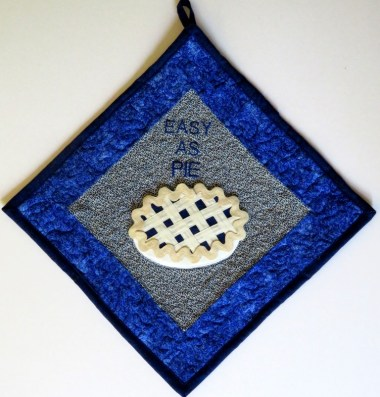 Easy as PIE hot pad by Libby Christensen doc