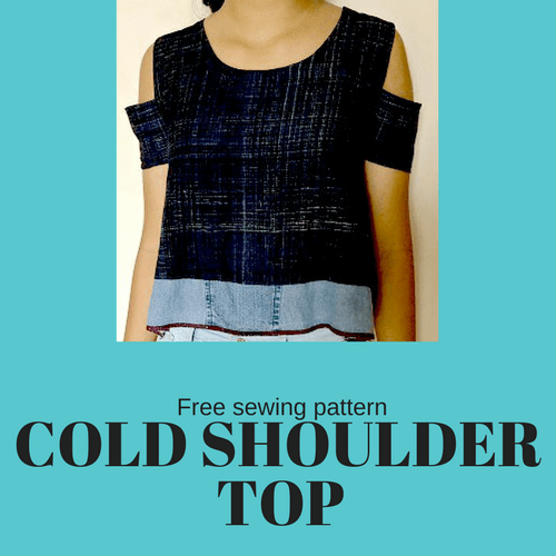 Make a COLD SHOULDER TOP- Free sewing pattern & tutorial ...