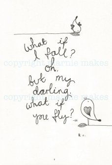 Marnie Makes illustrated fly quote