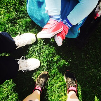 Family Feet - all out for some fresh air