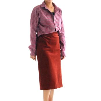 #19 【美人服レシピ】長方形を直線裁ちして作るペンシルスカート
