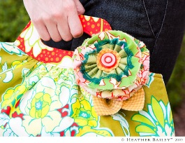 Tutorial Layered Fabric Flowers By Heather Bailey Sewing