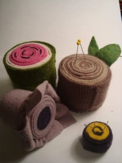 rolledwoolpincushions