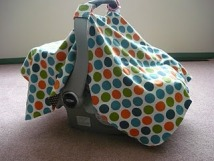 Tutorial Car Seat Carrier Cover Sewing