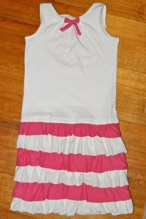 Tutorial Girl S Drop Waist Tank Dress With Tiered Ruffle