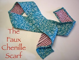 Tutorial Faux Chenille Scarf Sewing