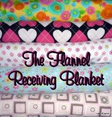 Tutorial Simple Flannel Receiving Blanket Sewing