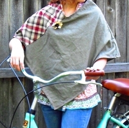 Tutorial: Lightweight poncho for fall layering – Sewing