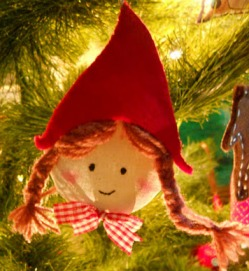 Free Pattern Little Red Riding Hood Christmas Ornament