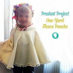 Tutorial Child S Hooded Poncho From 1 Yard Of Fleece Sewing