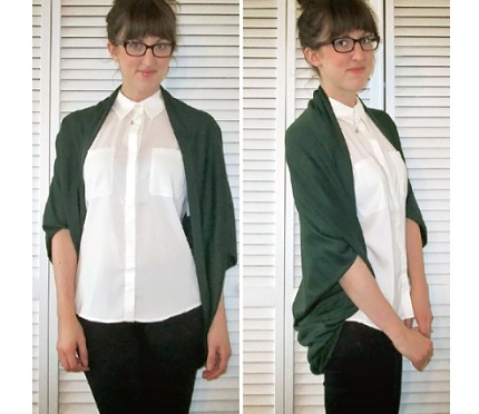Easy Cocoon Cardigan Sewing Tutorial