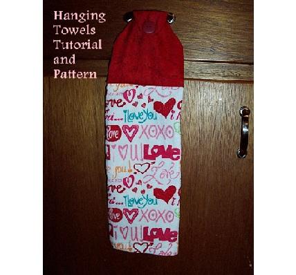 Tutorial Hanging Dish Towel Using Your Scrap Fabrics Sewing