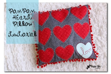 PomPomHeartLovePillowTutorial