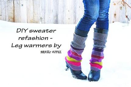 diy leg warmers A