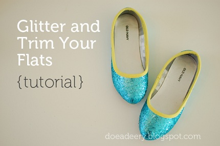 Tutorial: Glitter ballet flats with bias trim – Sewing