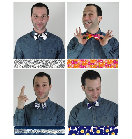 Tutorial: Sew a bow tie from a modern print
