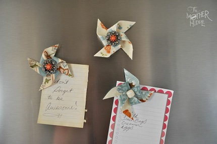 DIY-Pinwheel-Fridge-Magnets