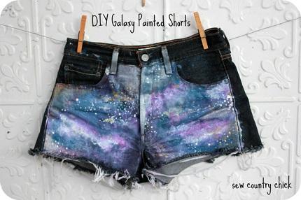 DIYgalaxyshorts