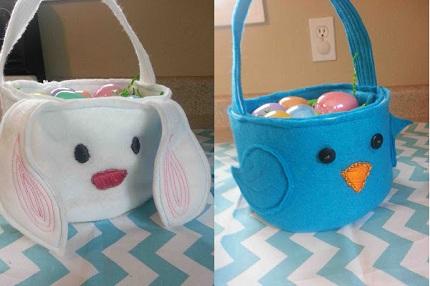 Tutorial Birdie Or Bunny Felt Easter Baskets Sewing