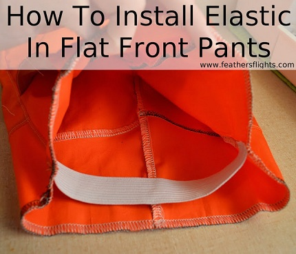 Tutorial Flat Front Elastic Back Waistband Sewing