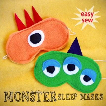 Tutorial Felt Monster Sleep Masks Sewing