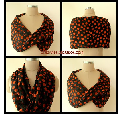 Tutorial: Infinity scarf with a twist – Sewing