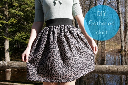Tutorial Easy Gathered Skirt With Wide Elastic Waistband