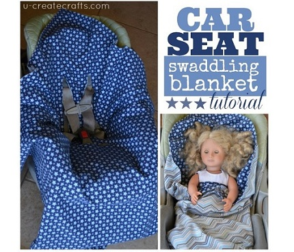 Tutorial: Car seat swaddling blanket