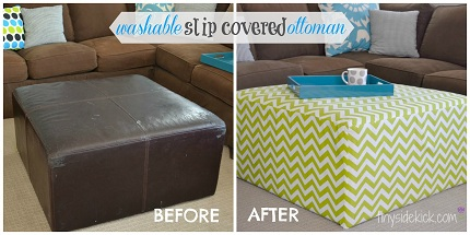 Tutorial Removable Slipcover For A Square Ottoman Sewing